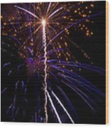 4th Of July Fireworks Wood Print by Ray Devlin