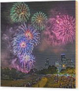 4th Of July In Houston Texas Wood Print