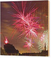 4th Of July In St Louis Wood Print
