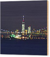 4th Of July New York City Wood Print by Raymond Salani III