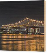4th Of July Over The Big Easy Part Deaux Wood Print by David Morefield