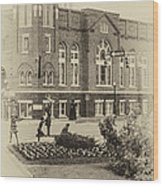 16th Street Baptist Church In Black And White With A White Vingette Wood Print