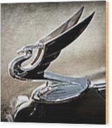 1935 Chevrolet Hood Ornament Wood Print