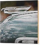 1940 Chevrolet Hood Ornament Wood Print
