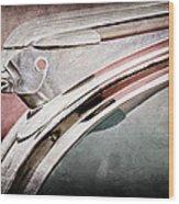 1948 Pontiac Chief Hood Ornament Wood Print