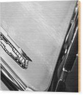1955 Chevrolet Belair Emblem Wood Print