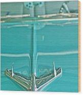 1956 Chevrolet Belair Hood Ornament Wood Print