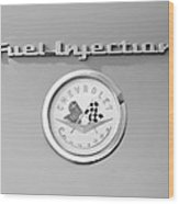 1957 Chevrolet Corvette Emblem Wood Print
