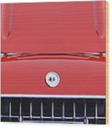 1957 Chevrolet Corvette Grille Wood Print