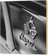 1958 Chevrolet Impala Emblem Wood Print