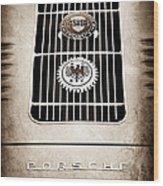1960 Volkswagen Vw Porsche 356 Carrera Gs Gt Replica Emblem Wood Print by Jill Reger