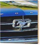 1965 Shelby Prototype Ford Mustang Grille Emblem Wood Print