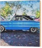 1967 Plymouth Belvedere Gtx 440 Painted  Wood Print