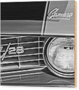 1969 Chevrolet Camaro Z 28 Grille Emblem Wood Print