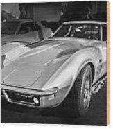 1969 Chevrolet Corvette 427 Bw Wood Print