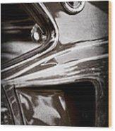 1969 Ford Mustang Mach 1 Emblem Wood Print