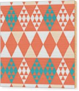 Abstract Retro Pattern. Vector Wood Print