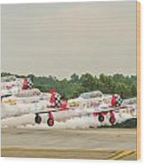 Airplanes At The Airshow Wood Print
