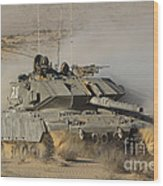 An Israel Defense Force Magach 7 Main Wood Print