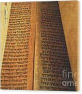 Ancient Torah Scrolls From Yemen  Wood Print