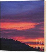 Appalachian Sunset Wood Print