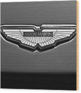 Aston Martin Emblem Wood Print