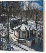 At The Ski Resort Wood Print
