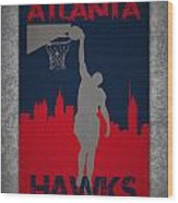 Atlanta Hawks Wood Print