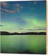 Aurora Borealis Northern Lights Display Wood Print