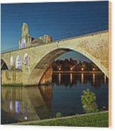 Avignon Bridge Wood Print