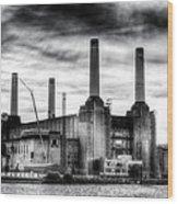 Battersea Power Station London Wood Print