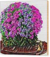 Beautiful Arrangement Of Flowers Wood Print
