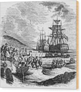 Boston: Evacuation, 1776 Wood Print