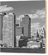 Buildings At The Waterfront, Boston Wood Print