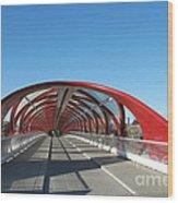 Calgary Peace Bridge Wood Print
