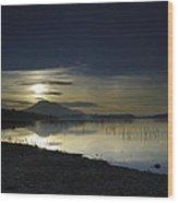 Calm Sunset Wood Print