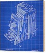 Camera Patent 1887 - Blue Wood Print