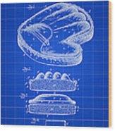 Catcher's Glove Patent 1891 - Blue Wood Print