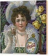 5 Cent Coca Cola - 1890 Wood Print
