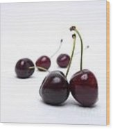 Cherries Wood Print
