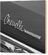 Chevrolet Chevelle Ss Taillight Emblem Wood Print