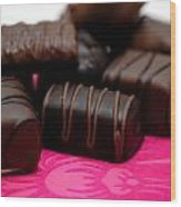 Chocolate Candies Wood Print