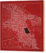 Cochabamba Street Map - Cochabamba Bolivia Road Map Art On Color Wood Print
