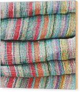 Colorful Cloth Wood Print