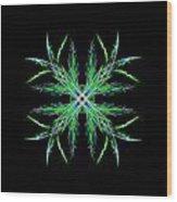 Colorful Crystalline Snowflake Wood Print