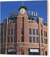 Coors Field - Colorado Rockies Wood Print