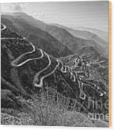 Curvy Roads Silk Trading Route Between China And India Wood Print