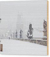 Czech Republic, Prague - Charles Bridge Wood Print