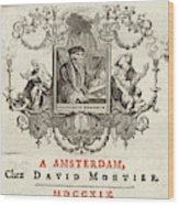 Desiderius Erasmus  Dutch Humanist Wood Print