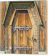 Detail Of The Door Of A Typical Ukrainian Antique Orthodox Churc Wood Print